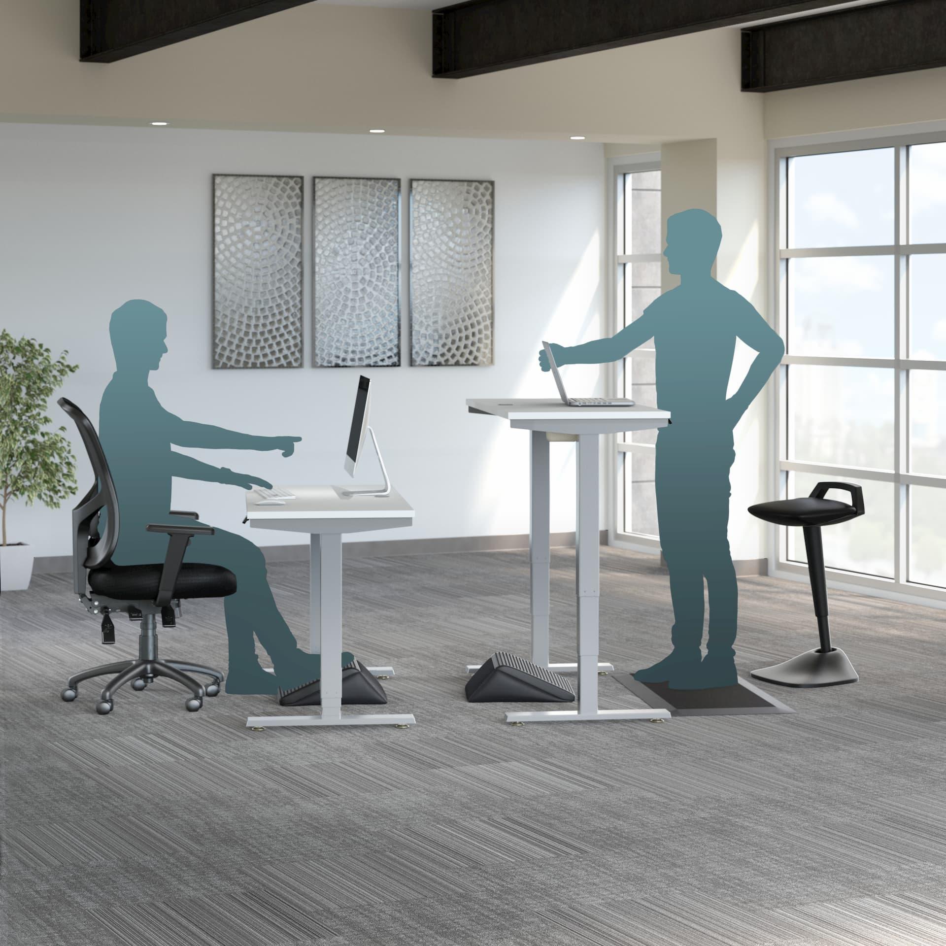 People using standing desks